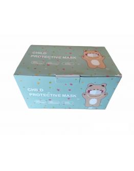 Mάσκες Προστασίας Παιδικές μιας Χρήσης  Τριών Στρώσεων 3ply 50 Τεμάχια σε Κουτί